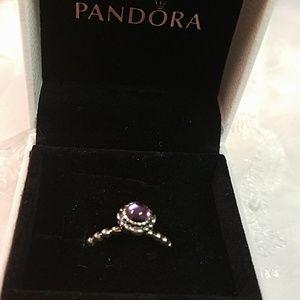 Sterling Pandora Purple Ring